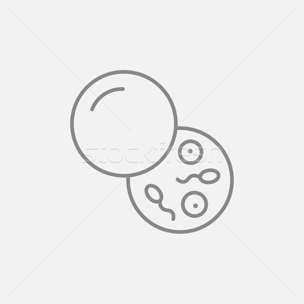 Schenker sperma lijn icon web mobiele Stockfoto © RAStudio