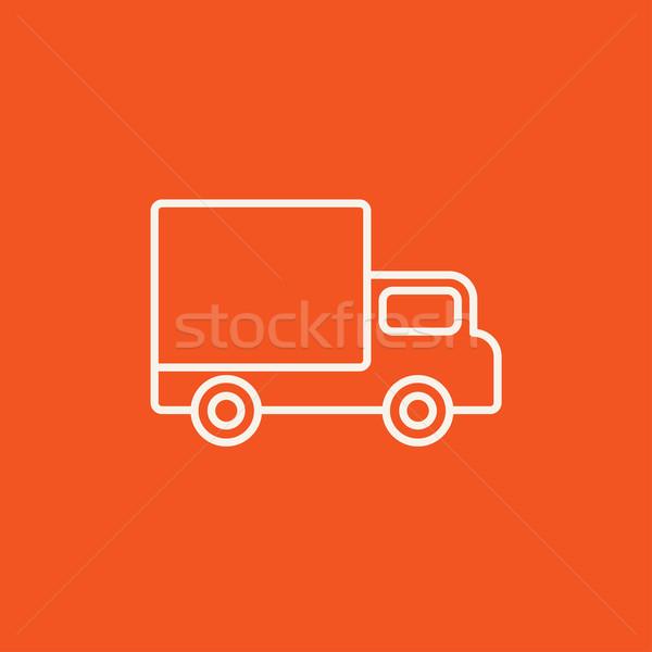 Delivery van line icon. Stock photo © RAStudio