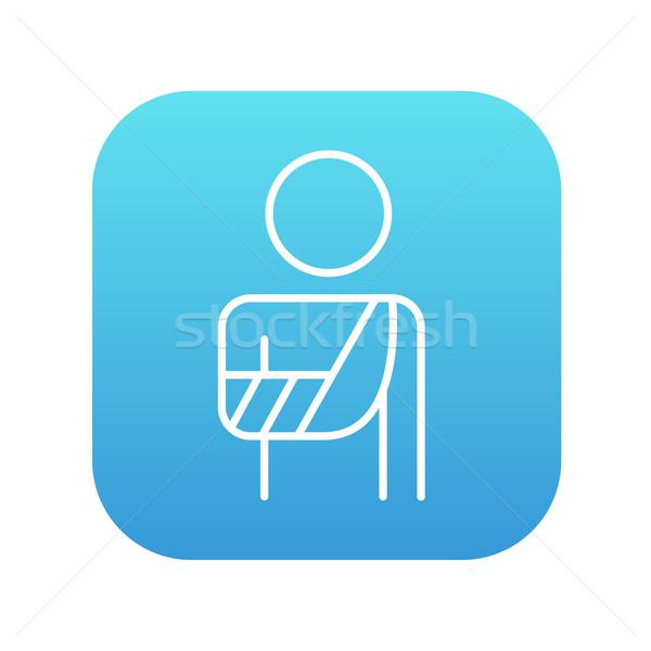 Injured man line icon. Stock photo © RAStudio