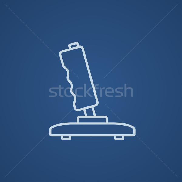 джойстик линия икона веб мобильных Инфографика Сток-фото © RAStudio