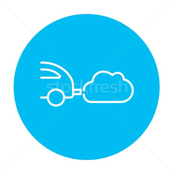Araba egzoz hat ikon web hareketli Stok fotoğraf © RAStudio