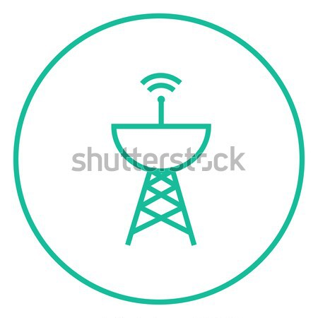 Radar satellite dish line icon. Stock photo © RAStudio