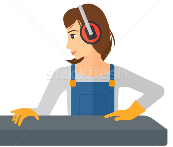 Mujer de trabajo molino vector diseno ilustración Foto stock © RAStudio