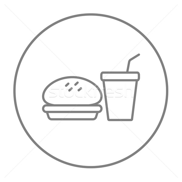 Fast food meal line icon. Stock photo © RAStudio