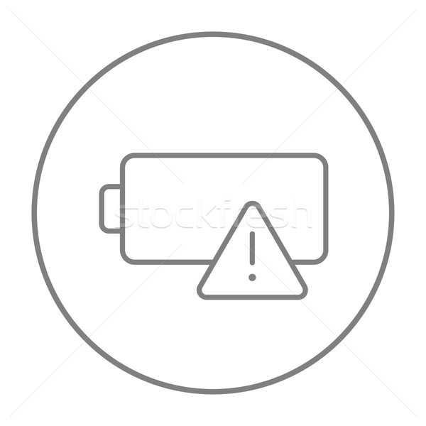 Empty battery line icon. Stock photo © RAStudio