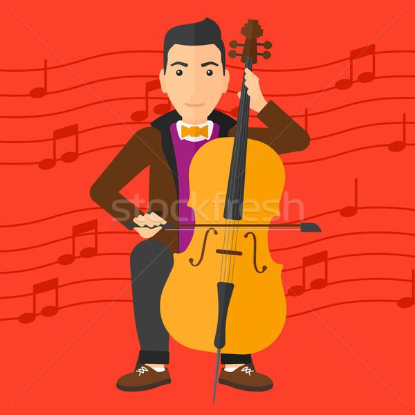 Man playing cello. Stock photo © RAStudio