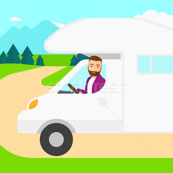 человека вождения Motor домой борода Сток-фото © RAStudio