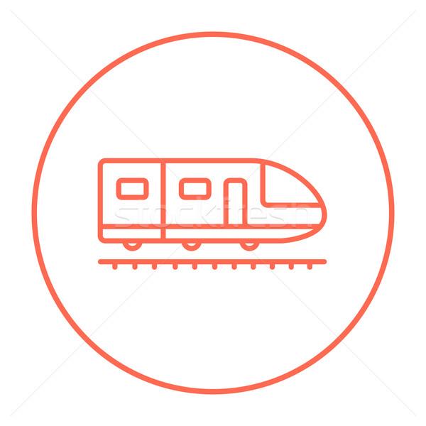 Modern nagysebességű vonat vonal ikon háló Stock fotó © RAStudio
