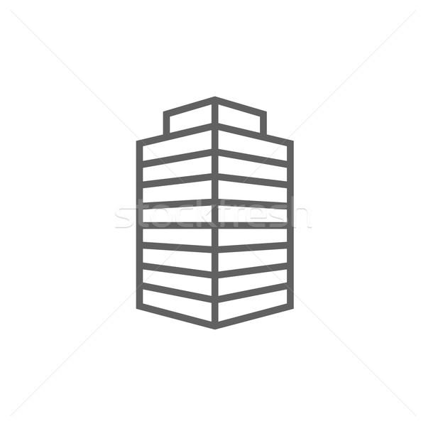 辦公樓 線 圖標 納斯 網頁 移動 商業照片 © RAStudio