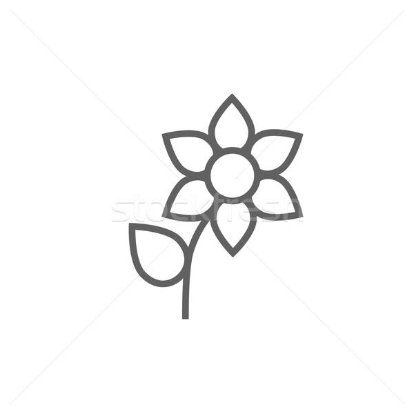 Flower line icon. Stock photo © RAStudio