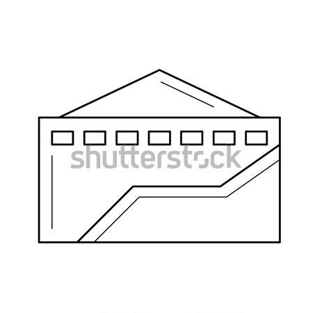 Fábrica linha ícone teia móvel Foto stock © RAStudio