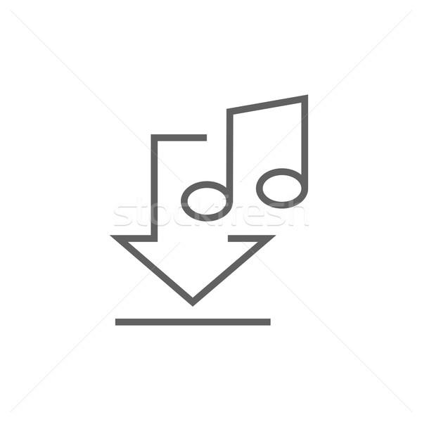 скачать музыку линия икона уголки веб Сток-фото © RAStudio