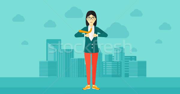 Business woman taking off jacket. Stock photo © RAStudio