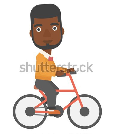 Mulher ciclismo trabalhar vetor projeto ilustração Foto stock © RAStudio