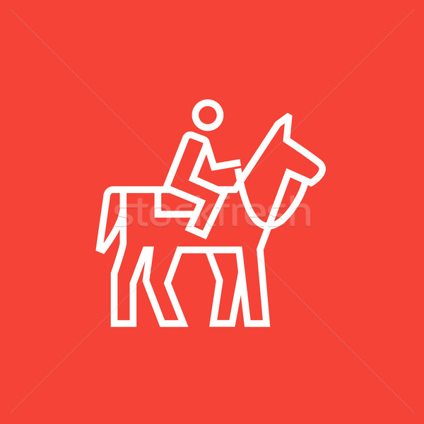 Horse riding line icon. Stock photo © RAStudio