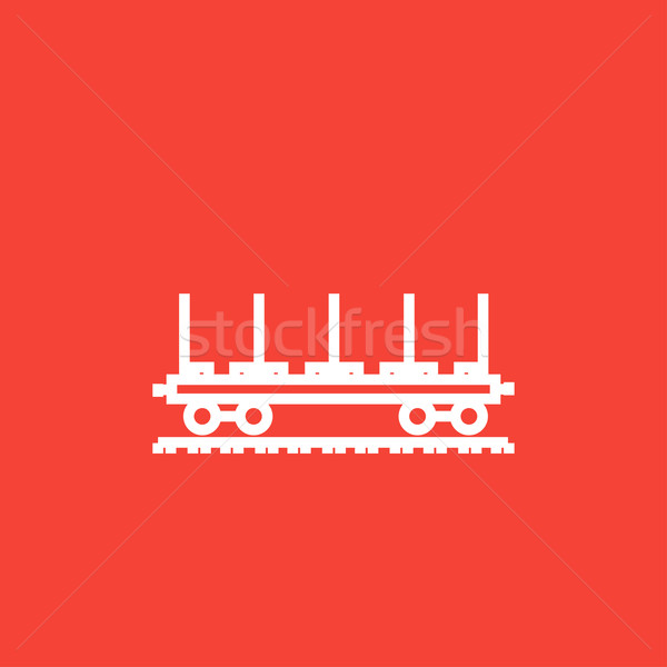 Cargo wagon line icon. Stock photo © RAStudio