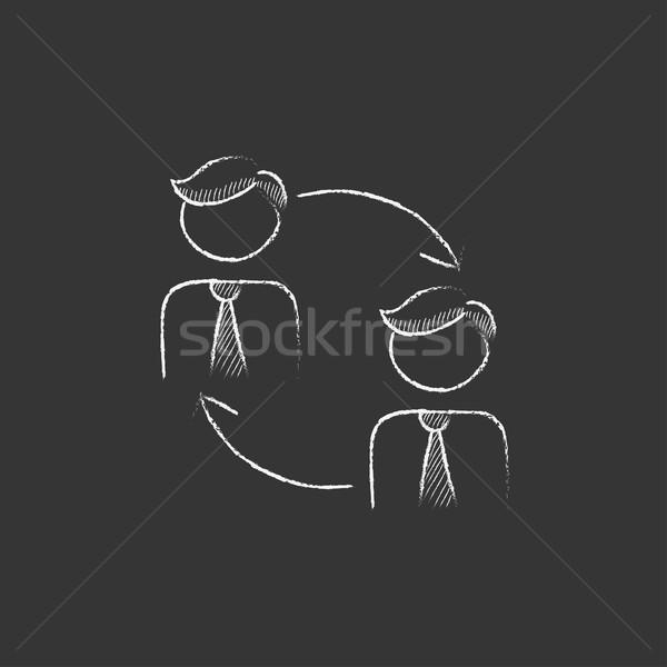 Staff turnover. Drawn in chalk icon. Stock photo © RAStudio