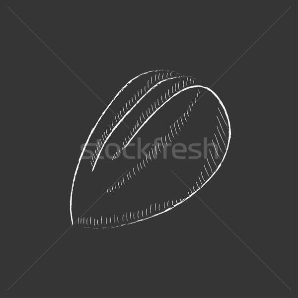 Mandula rajzolt kréta ikon kézzel rajzolt vektor Stock fotó © RAStudio