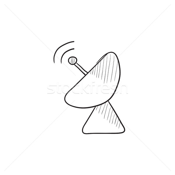 Radar satellite dish sketch icon. Stock photo © RAStudio