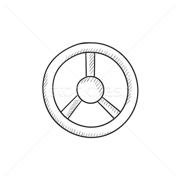Stuur schets icon vector geïsoleerd Stockfoto © RAStudio