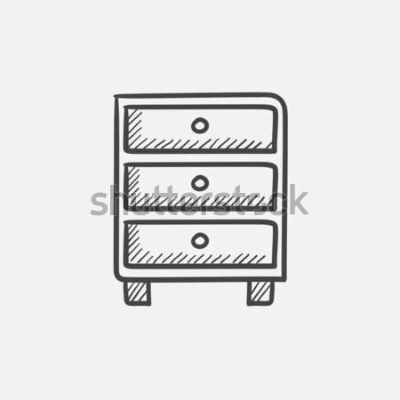 груди эскиз икона вектора изолированный Сток-фото © RAStudio