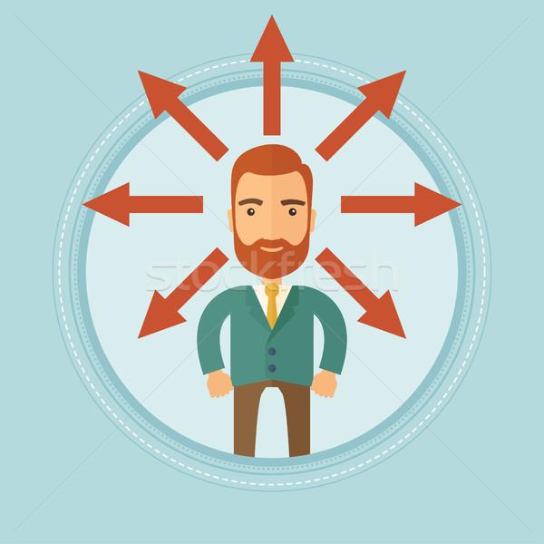 Stockfoto: Man · kiezen · carriere · manier · business · oplossing