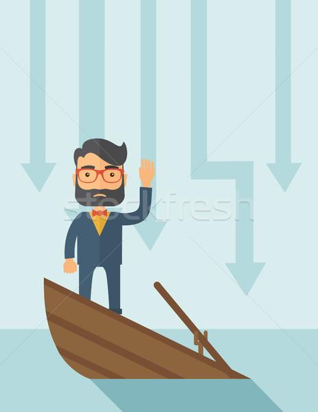 ビジネス 悲しい 男 あごひげ 着用 眼鏡 ストックフォト © RAStudio