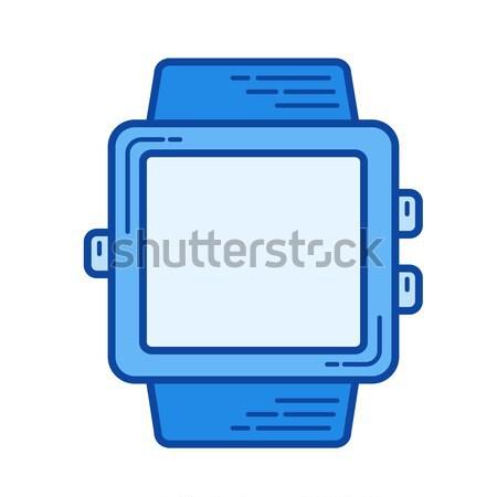 Wearable device line icon. Stock photo © RAStudio