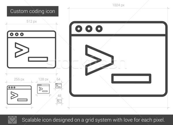 Codificación línea icono vector aislado Foto stock © RAStudio