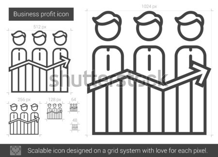 Business profit line icon. Stock photo © RAStudio