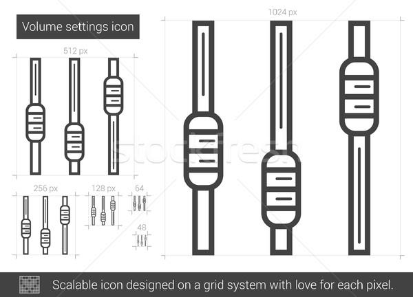 Volume settings line icon. Stock photo © RAStudio