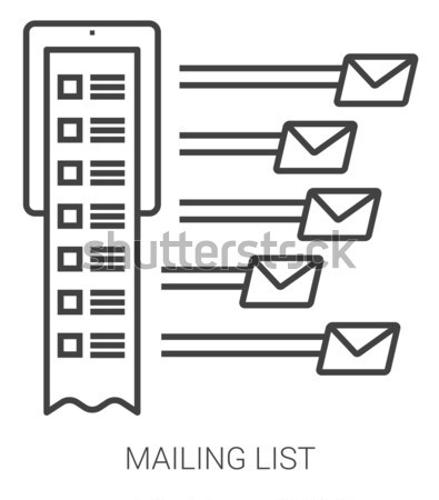 Mailing list line infographic. Stock photo © RAStudio