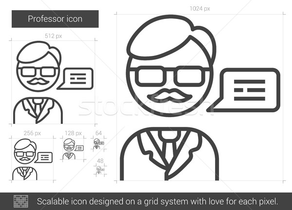 Professor line icon. Stock photo © RAStudio