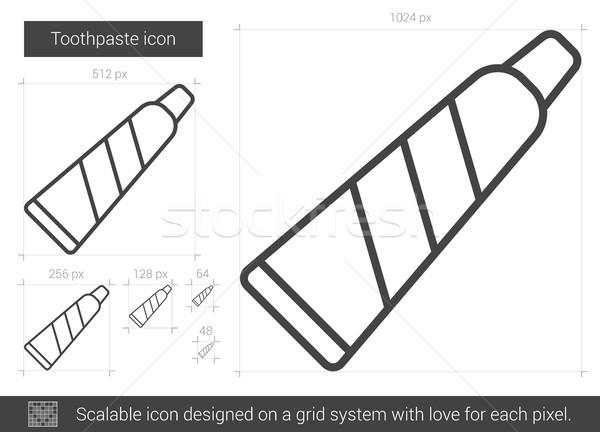 Fogkrém vonal ikon vektor izolált fehér Stock fotó © RAStudio