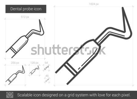 Dental probe line icon. Stock photo © RAStudio