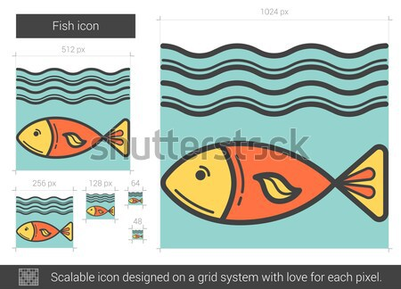 Fish line icon. Stock photo © RAStudio
