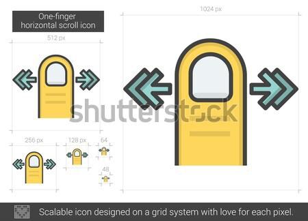 Left edge swipe line icon. Stock photo © RAStudio