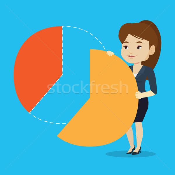 Business woman taking his share of the profits. Stock photo © RAStudio