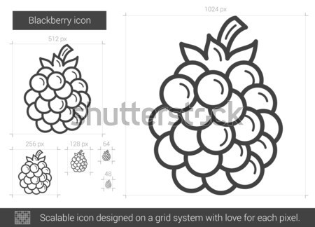 BlackBerry ligne icône vecteur isolé blanche Photo stock © RAStudio