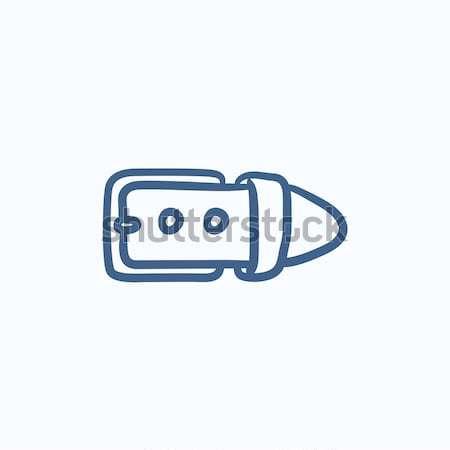 Belt buckle sketch icon. Stock photo © RAStudio