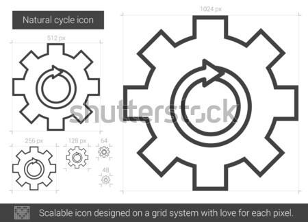 Natural cycle line icon. Stock photo © RAStudio