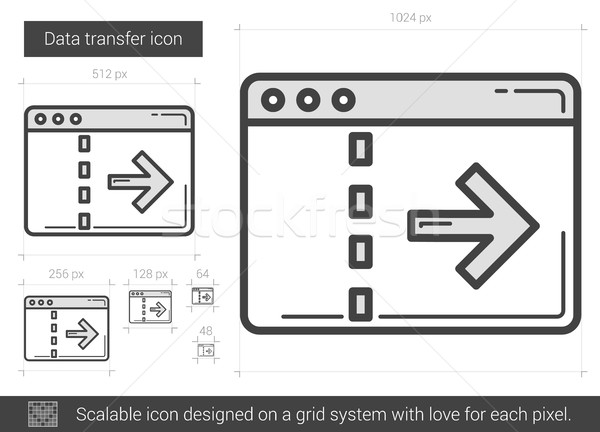 Data transfer line icon. Stock photo © RAStudio