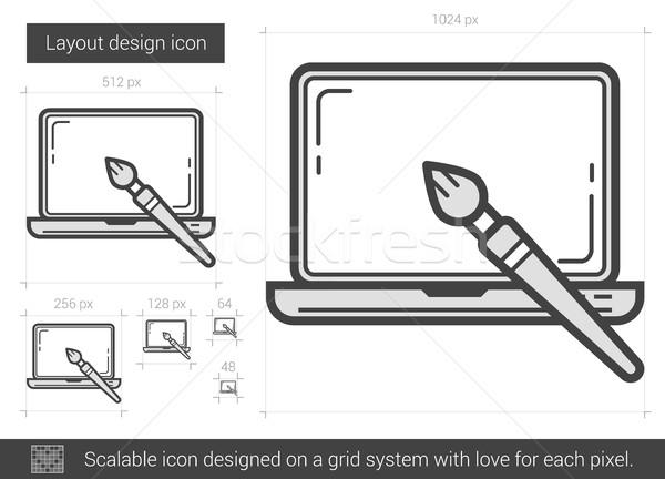 Layout design line icona vettore isolato Foto d'archivio © RAStudio