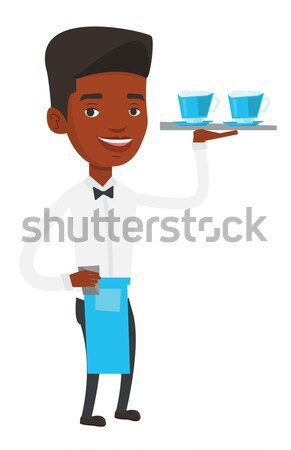 Barman vidrio vino mano mirando Foto stock © RAStudio