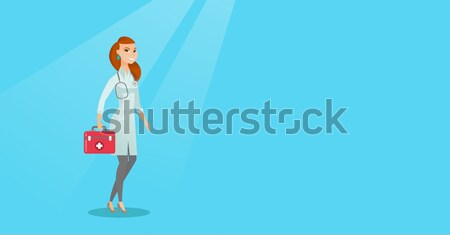 Médico primeros auxilios cuadro caucásico médicos Foto stock © RAStudio