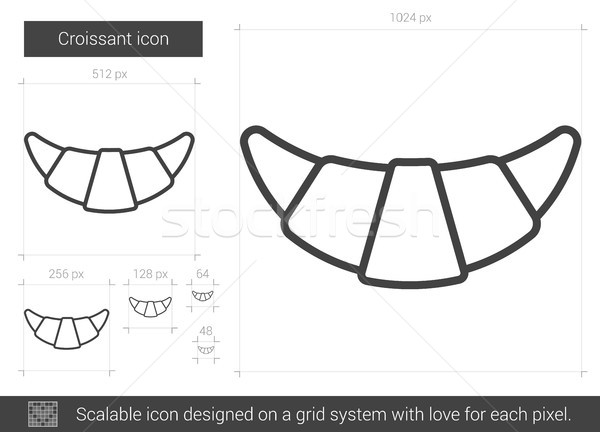 Croissant line icon. Stock photo © RAStudio