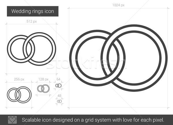 Wedding rings line icon. Stock photo © RAStudio