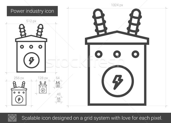 Power industry line icon. Stock photo © RAStudio