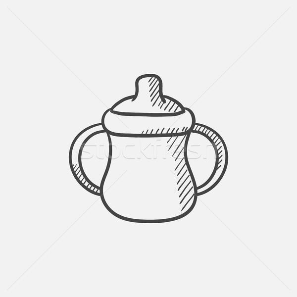 ребенка бутылку эскиз икона веб мобильных Сток-фото © RAStudio