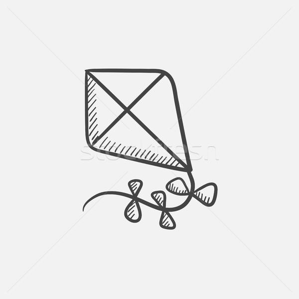 Kite schets icon web mobiele infographics Stockfoto © RAStudio